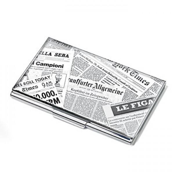 Visitenkartenetui Zeitungscollage Papier Und Druck Ideen