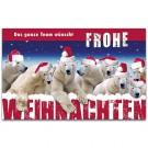 Eisbären Weihnachtskarte