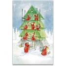 Maler Weihnachtskarte
